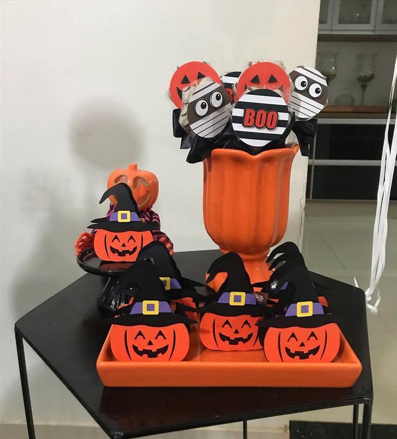 Decoração de festa Halloween barata