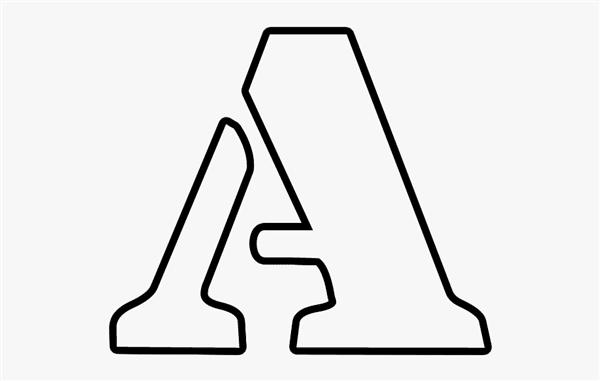Molde vazado letra A