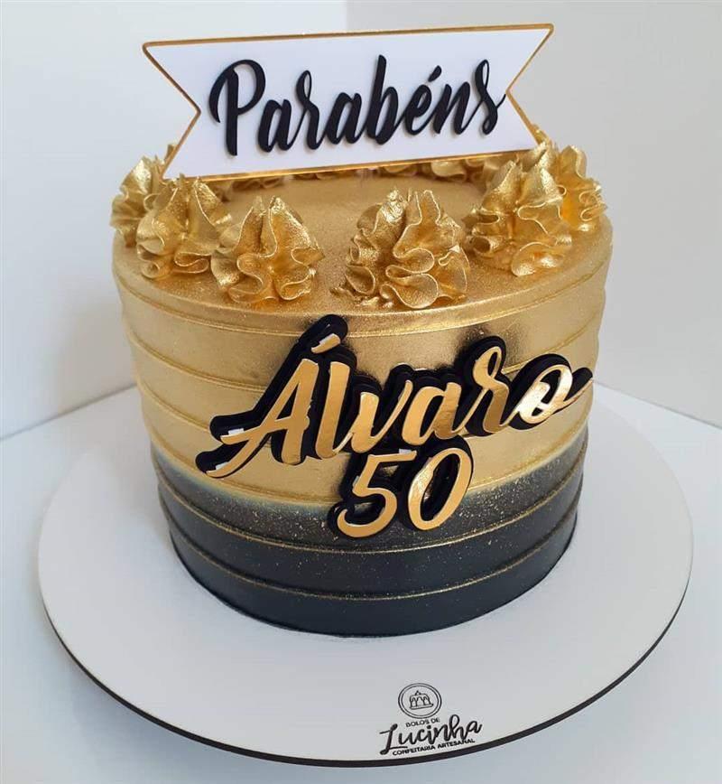 bolo de aniversario para homem brilhoso