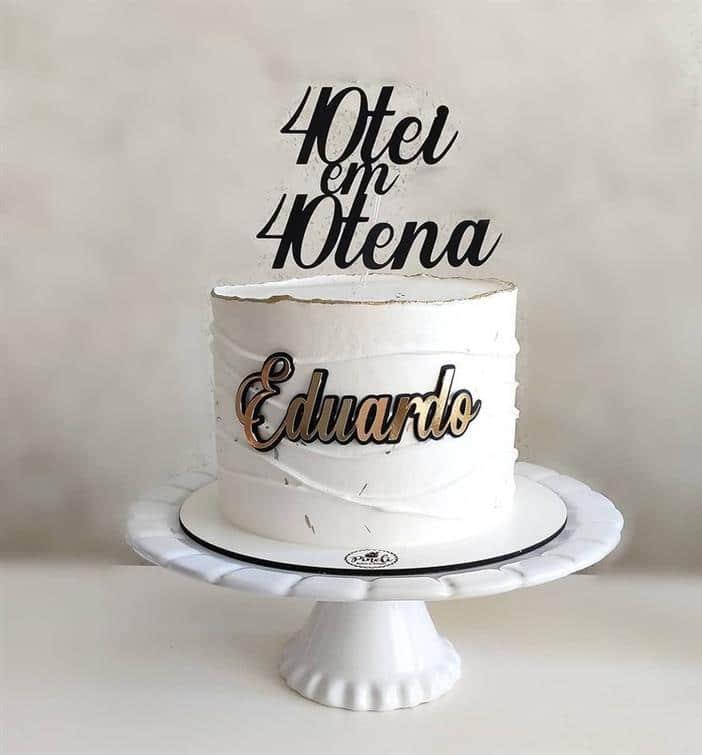 bolo de aniversario para homem simples