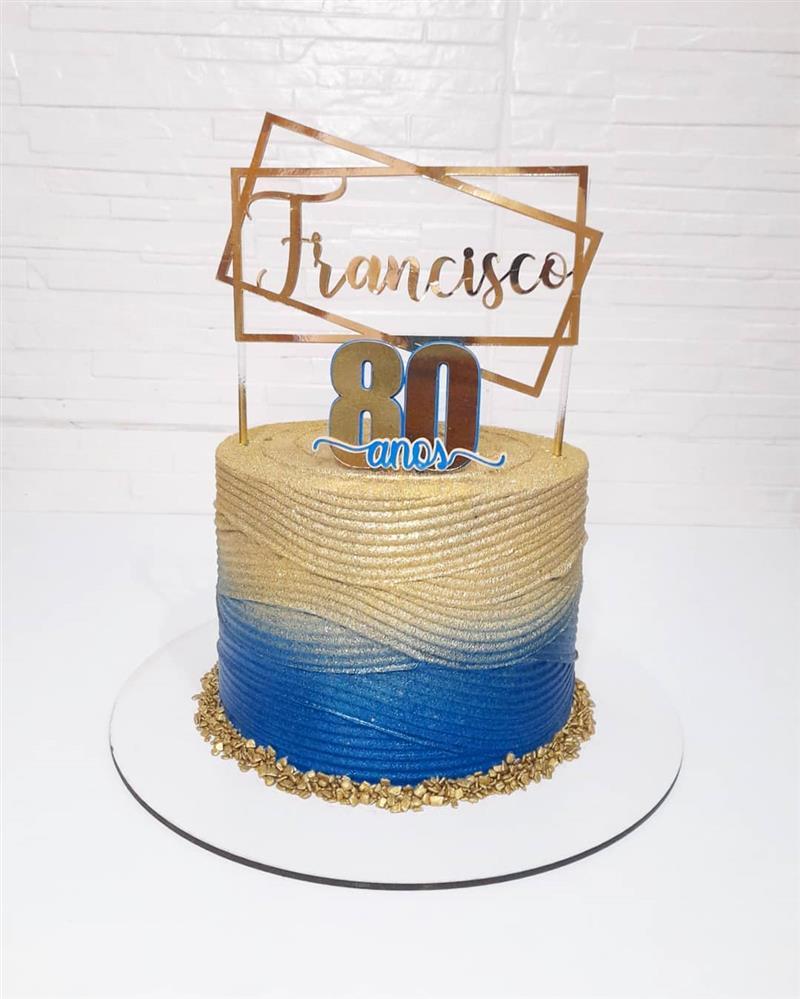 bolo de aniversario para homem 80 anos
