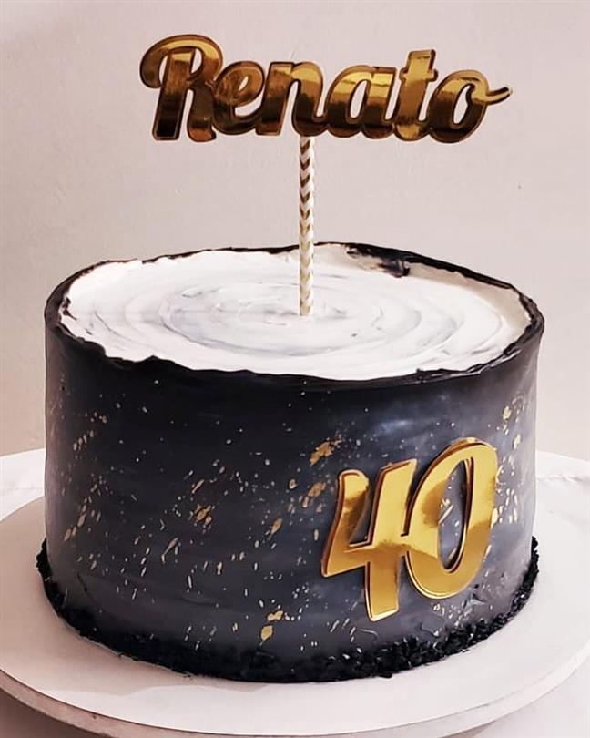 bolo de aniversario para homem chapiscado