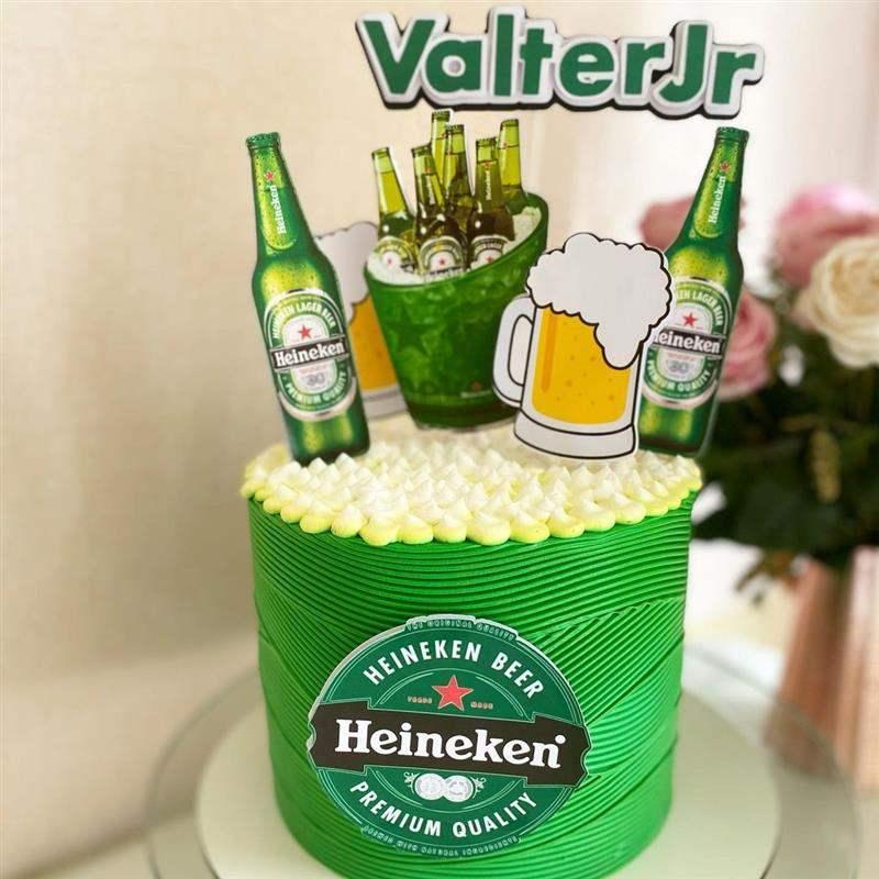 Bolo de aniversário para homem cerveja