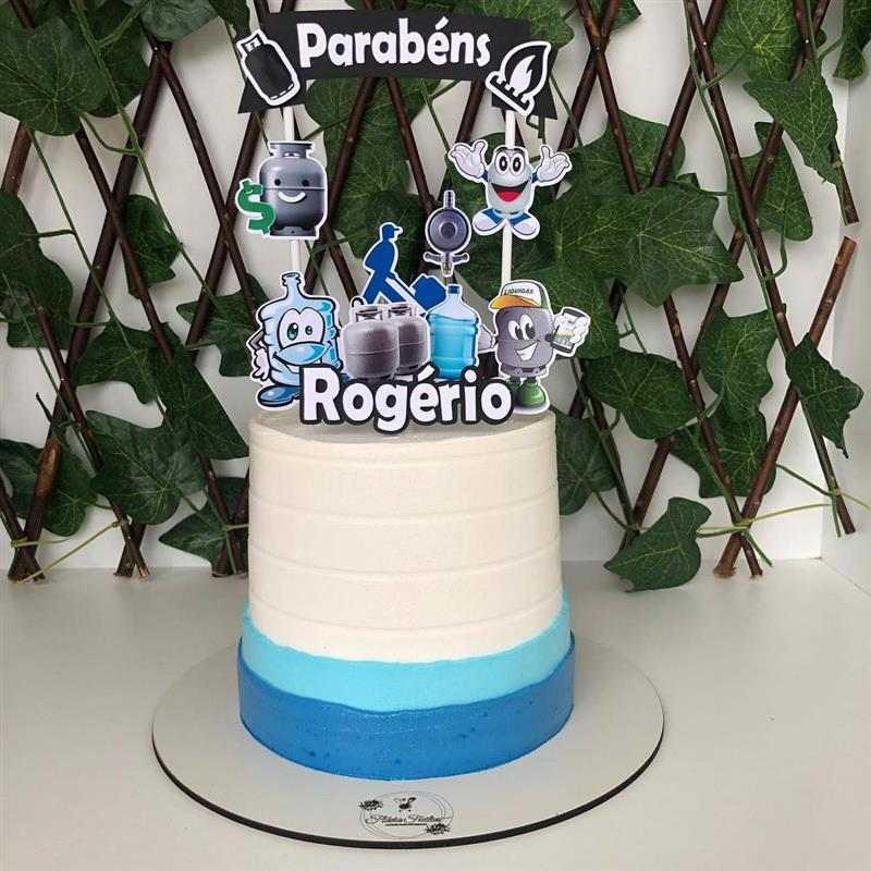 bolo de aniversario para homem tema gas