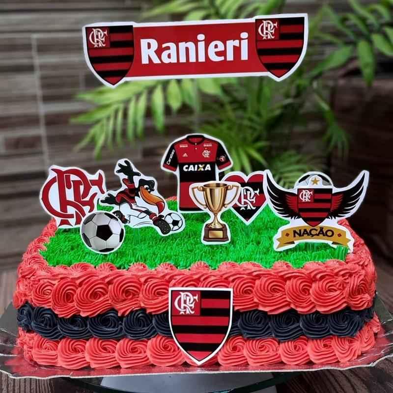 bolo para homem quadrado flamengo