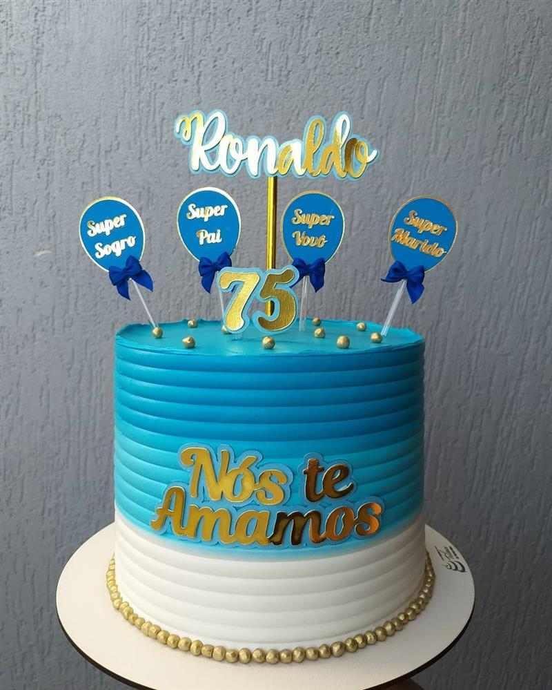 bolo de aniversario para homem 75 anos