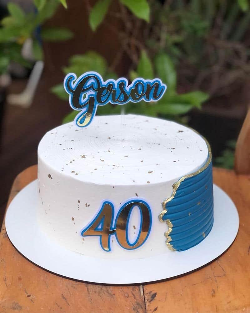 bolo de aniversario para homem 40 anos
