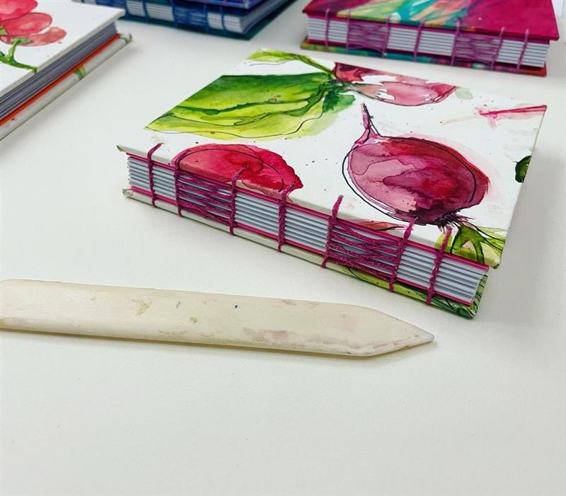 costura de caderno artesanal