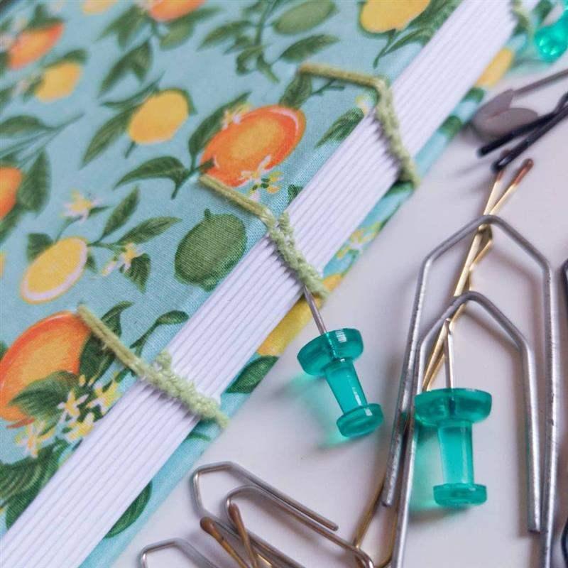 capa de caderno artesanal com tecido