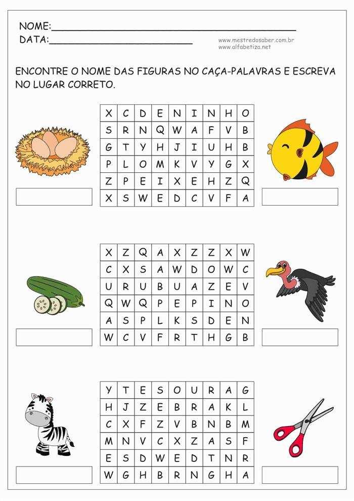 caça palavras para imprimir animais