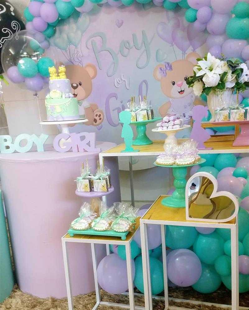 decoração lilas e verde