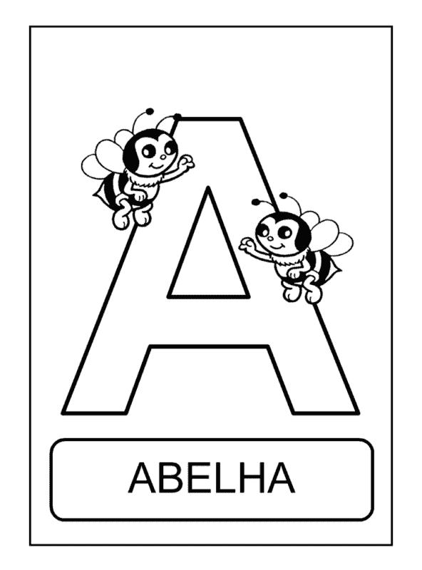 letra a com abelha