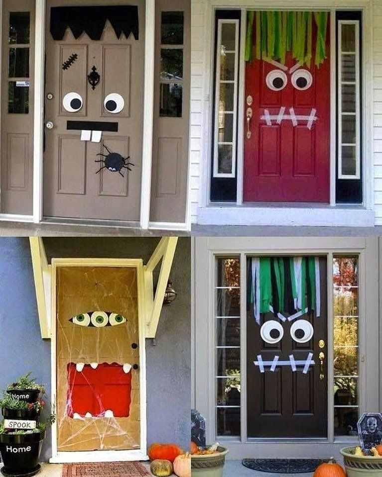 monstros na porta