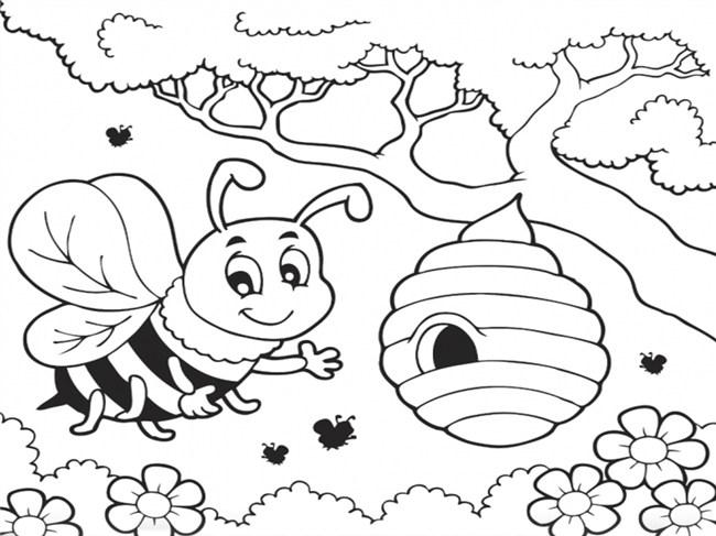 Colmeia de abelhas para pintar