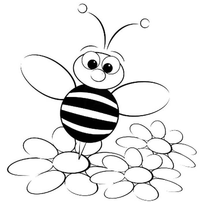 abelha rainha para colorir
