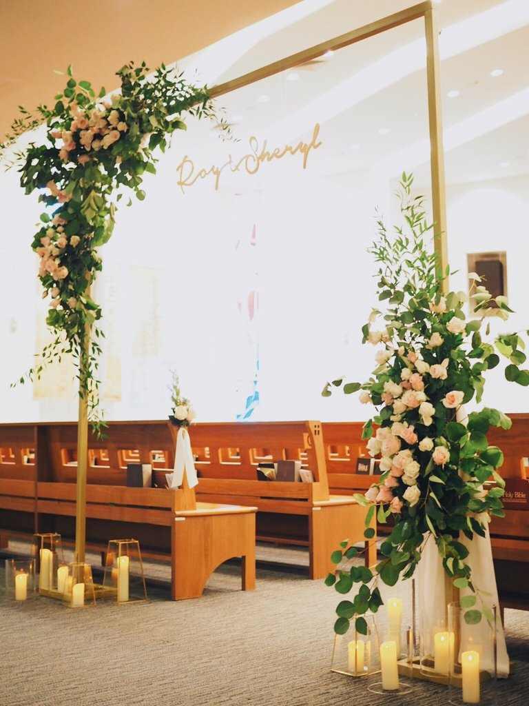 flores na igreja