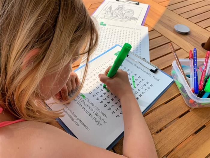 atividades de caça palavras