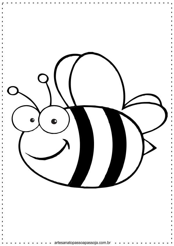 abelha para colorir educação infantil