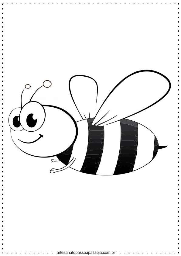 atividade de abelha para colorir