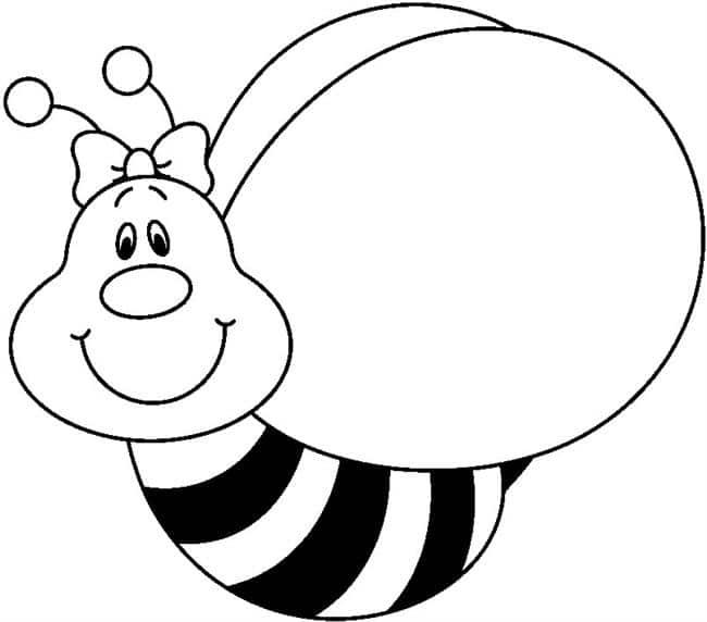 molde de abelha para colorir