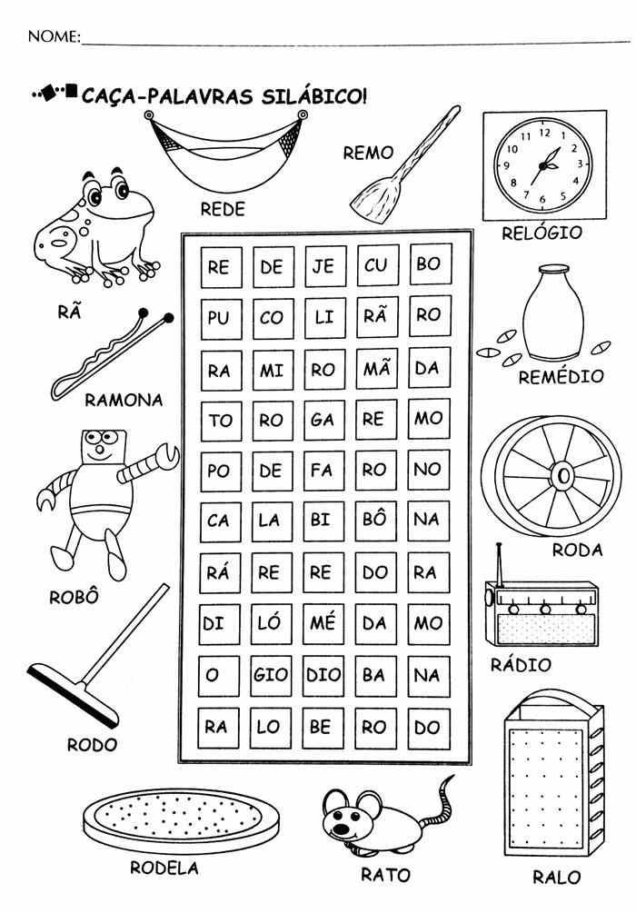 Para ensinar a ler silabico