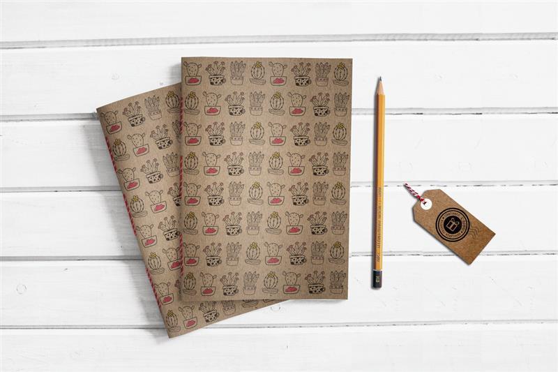 Caderno artesanal Kraft