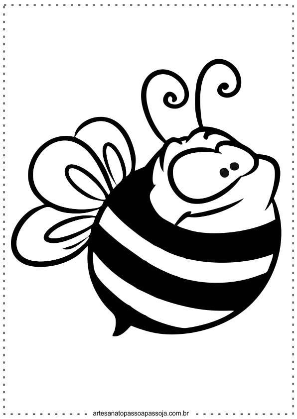 desenhos abelha para colorir e imprimir