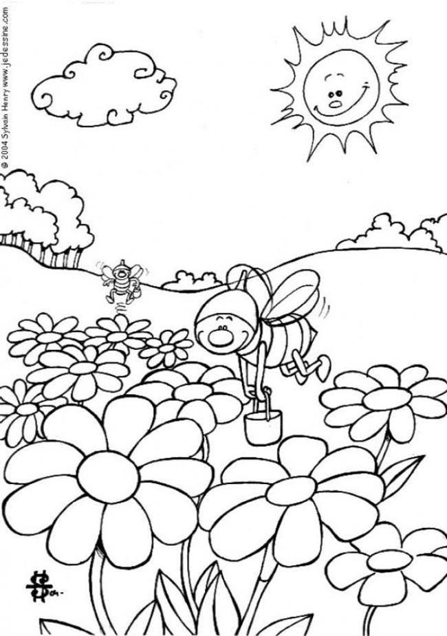 jardim com abelhas