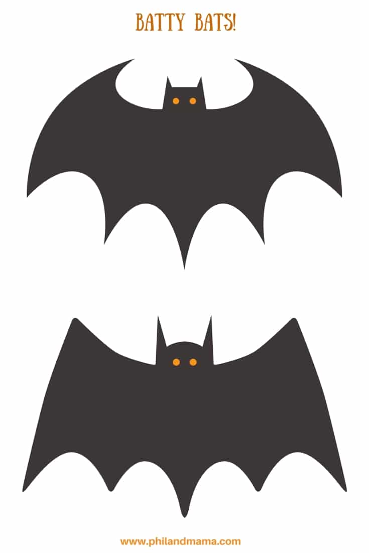 morcegos para imprimir