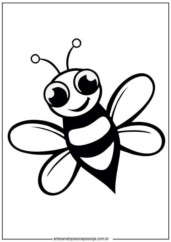 Desenhos de abelha para colorir