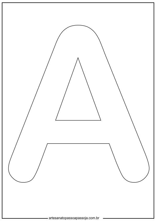 letra a maiuscula molde