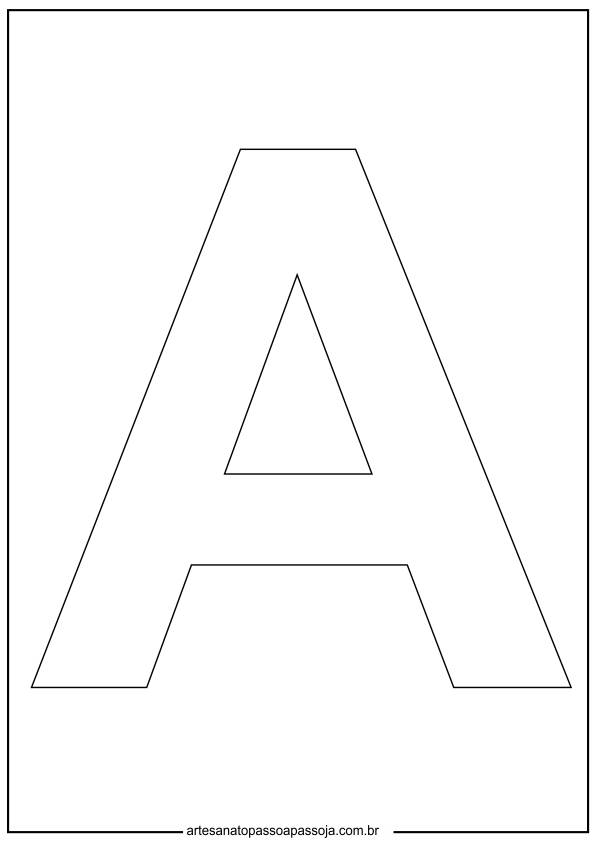 molde letra a para imprimir