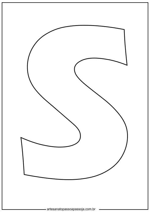 desenho letra s