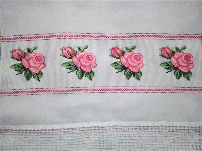 toalha com bordado