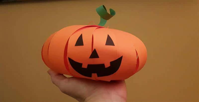 Abóbora de Halloween de papel