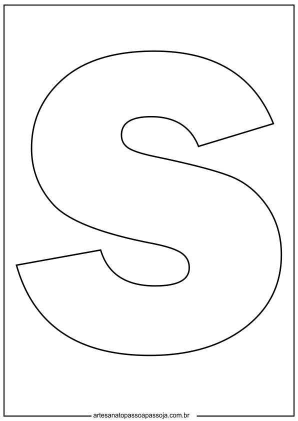 alfabetização letra s