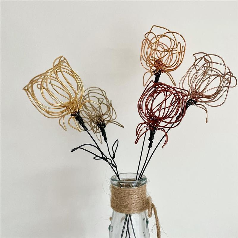 arame para artesanato flores