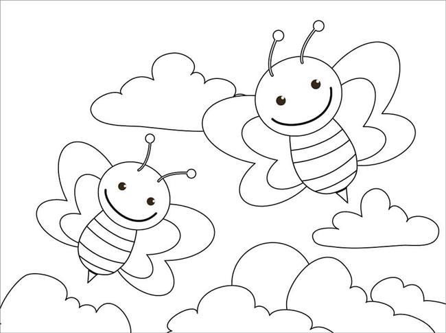 abelhinhas para colorir