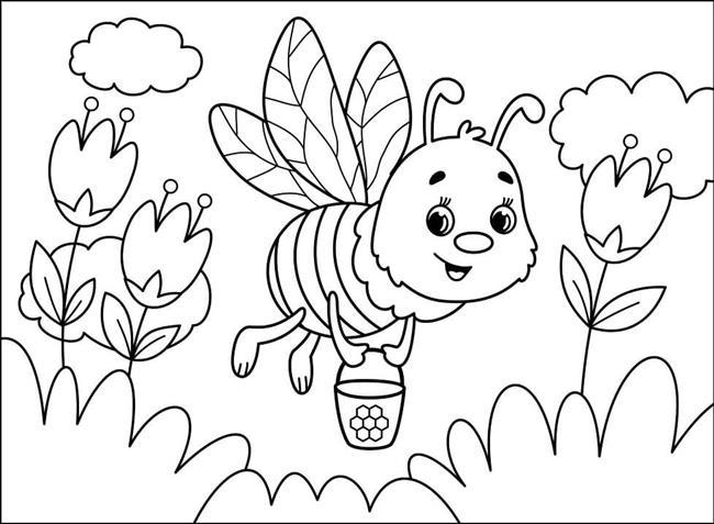 abelha no jardim