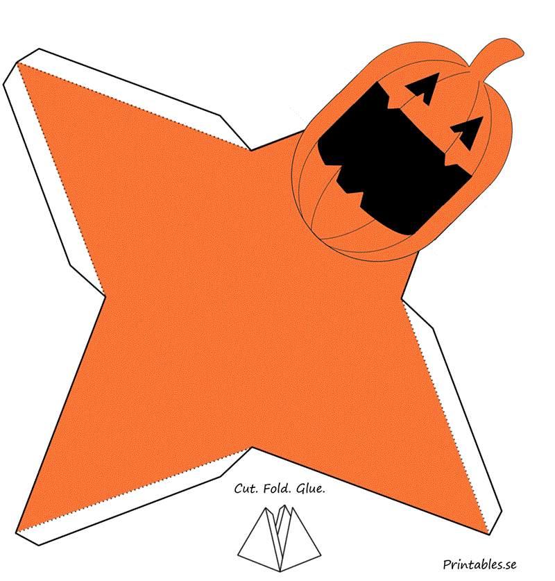 caixa triangulo abobora