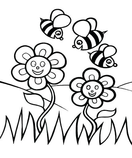 abelha colorir gratis