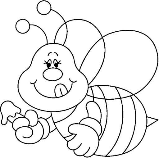 mel de abelha para colorir