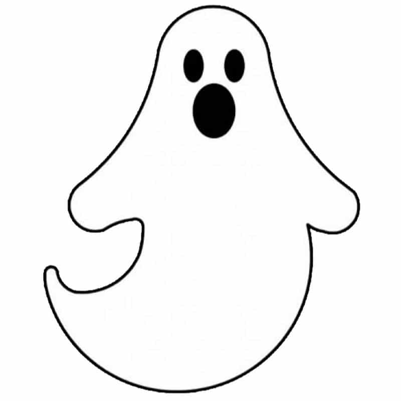 fantasma para imprimir