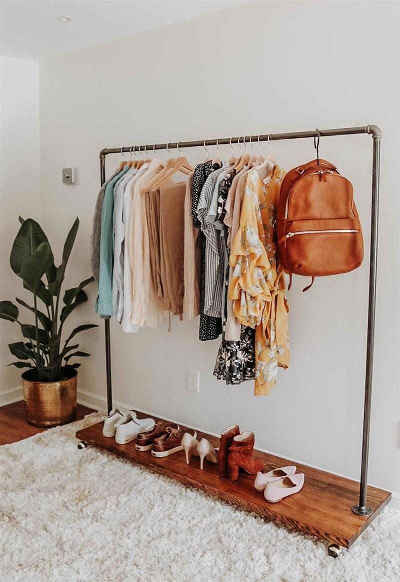 como fazer arara de roupas barata