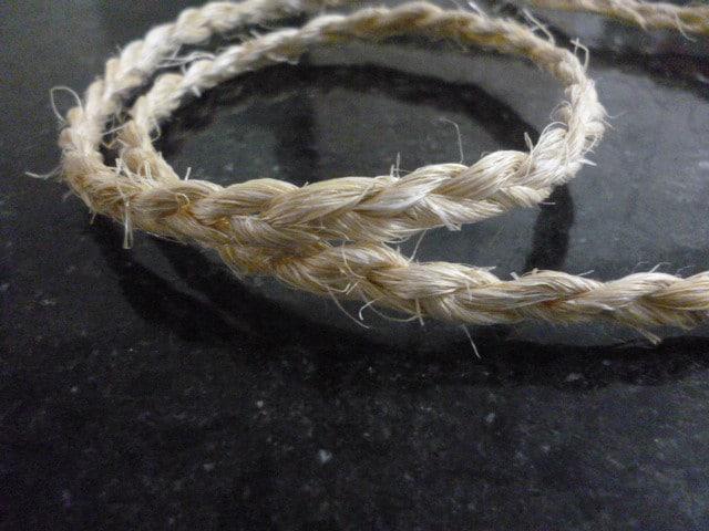 Medidas das cordas de sisal