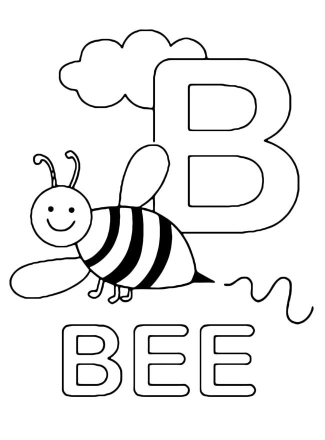 abelha com a letra b bee