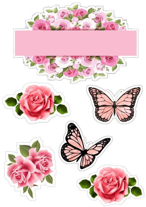 rosas e borboletas