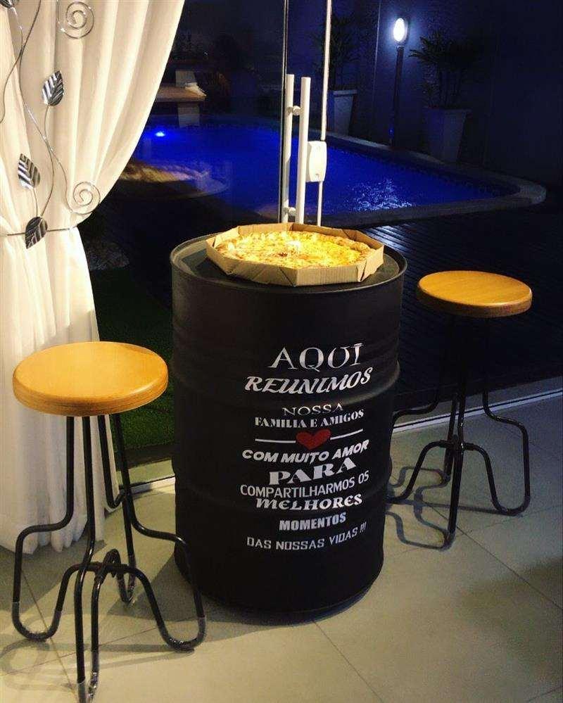 tonel decorativo bar