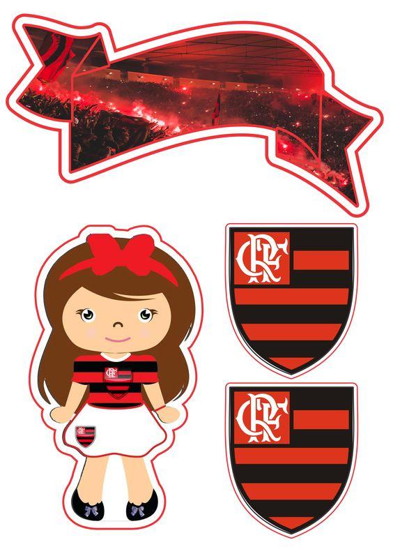 Topo de bolo feminino do Flamengo