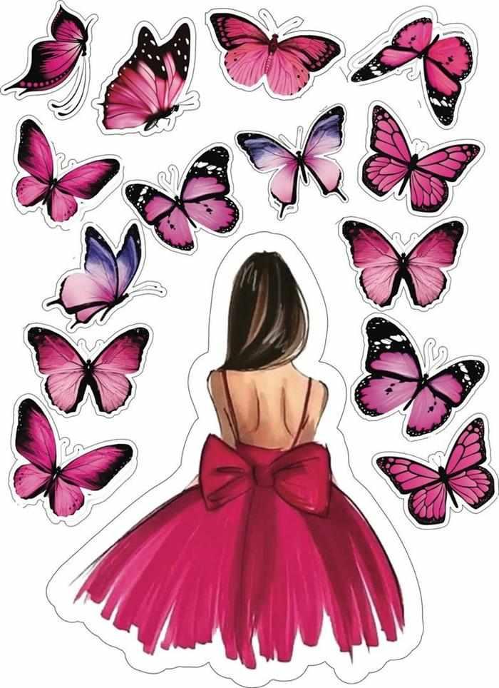 borboletas e silhueta